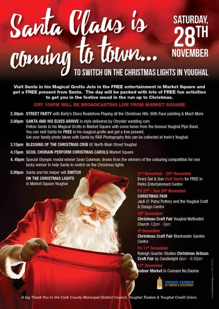Santa is switching on the Christmas lights in Youghal! - Ring of Cork