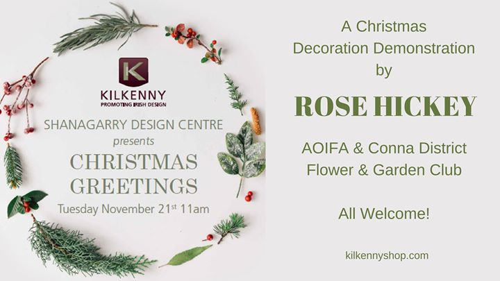 A Christmas Floral Decoration Demonstration - Ring of Cork
