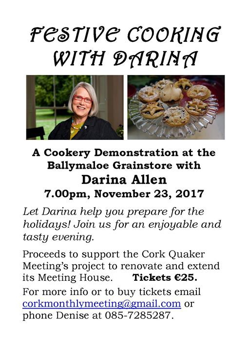 Festive Cooking with Darina at Ballymaloe Grainstore - Ring of Cork
