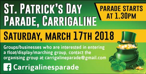 www.ringofcork.ie Ring of Cork St Patricks Day 2018 Carrigaline