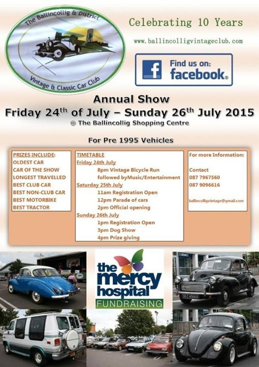 Ballincollig & District Vintage and Classic Car Club Annual Vintage Show - Ring of Cork