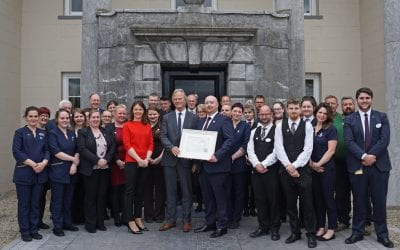 The 5 Star Castlemartyr Resort presented with Failte Ireland Award for Customer Service Excellence