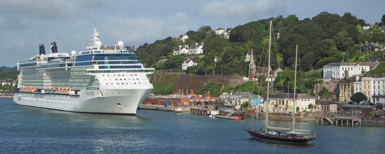 Celebrity Reflection Cruise Ship arrives at Cobh Cruise Terminal - Ring of Cork