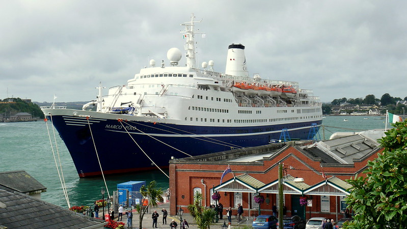 Marco Polo Arrives at Ringaskiddy - Ring of Cork