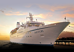 ASTOR Cruise Ship Arrives at Ringaskiddy DWB - Ring of Cork