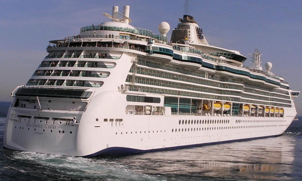 Brilliance of the Seas Cruise Ship arrives at Cobh Cruise Terminal - Ring of Cork
