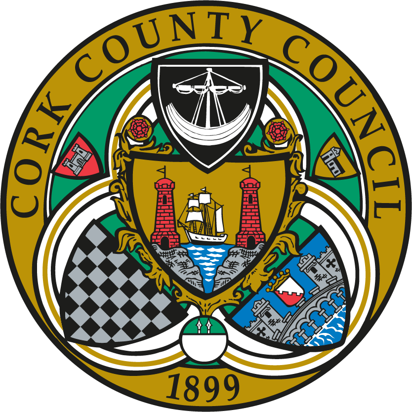 Cork Co Co Official Logo PNG Color Crest Only Transparent  Background | www.secad.ie | SECAD Partnership CLG