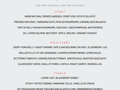 Pier 26 menu | www.ringofcork.ie | Ring of Cork