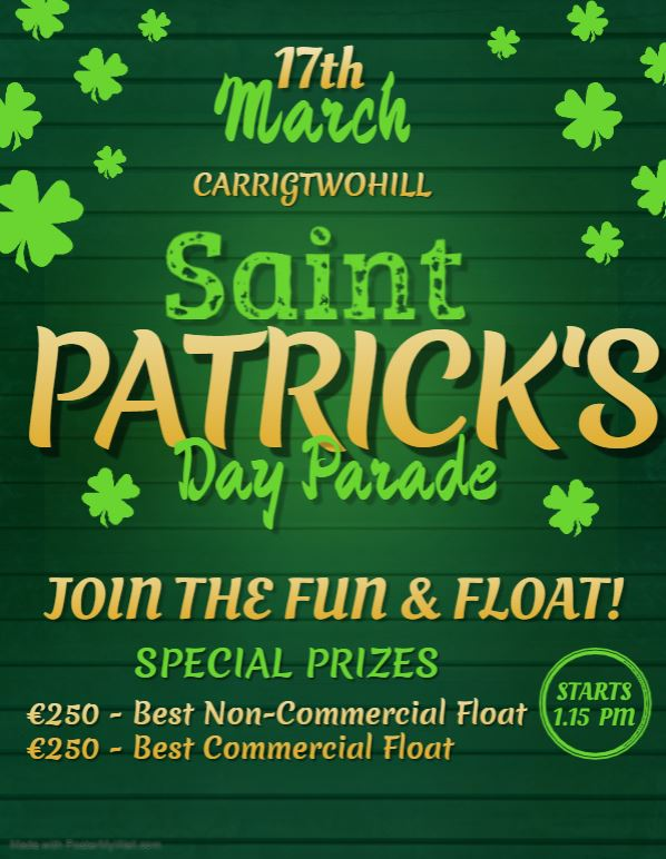 2020 Carrigtwohill Patrick's Day Parade | www.ringofcork.ie | Ring of Cork