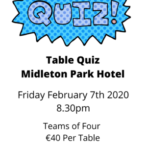 Table Quiz on behalf of Clonmult Ambush Commemoration Committee