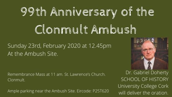 99th anniversary of the Clonmult Ambush | www.ringofcork.ie | RIng of Cork Events